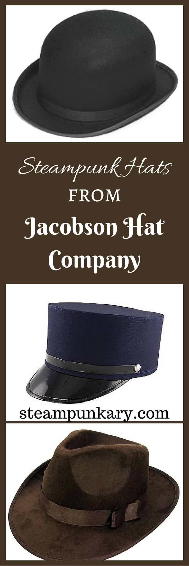 Steampunk Hats from Jacobson Hat Company