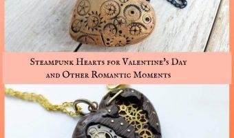 Steampunk Hearts for Valentine's Day Anniversary Wedding Romance