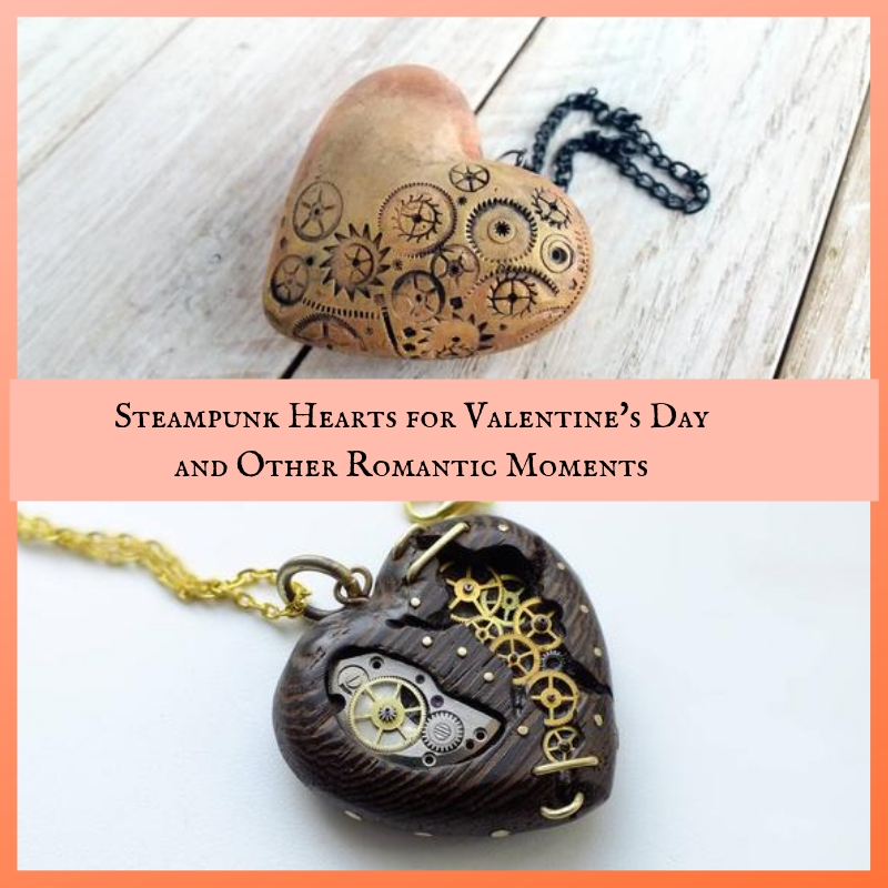 Steampunk Hearts for Valentine's Day Anniversary Wedding Romance