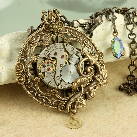 Fun Steampunk Necklaces, Bracelets and Rings for Men and Women