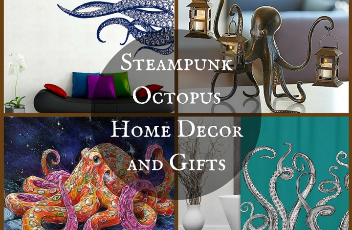Steampunk Octopus Home Decor and Gifts