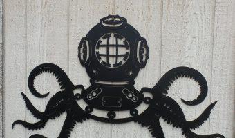 Steampunk Octopus Metal Wall Art