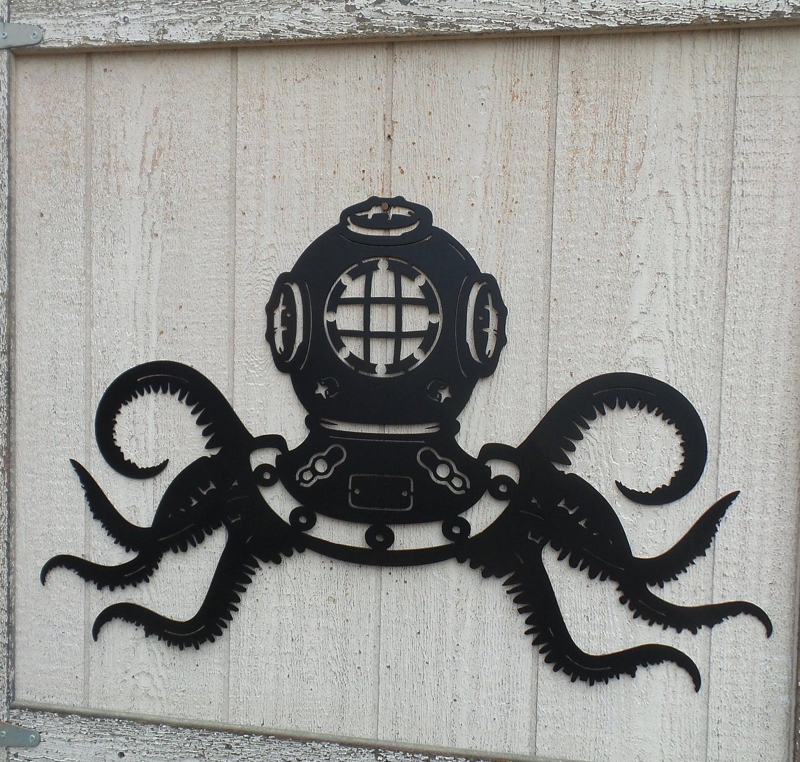 Octopus Metal Wall Art