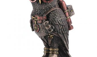 Join Our May Giveaway for a Steampunk Owl Statue!