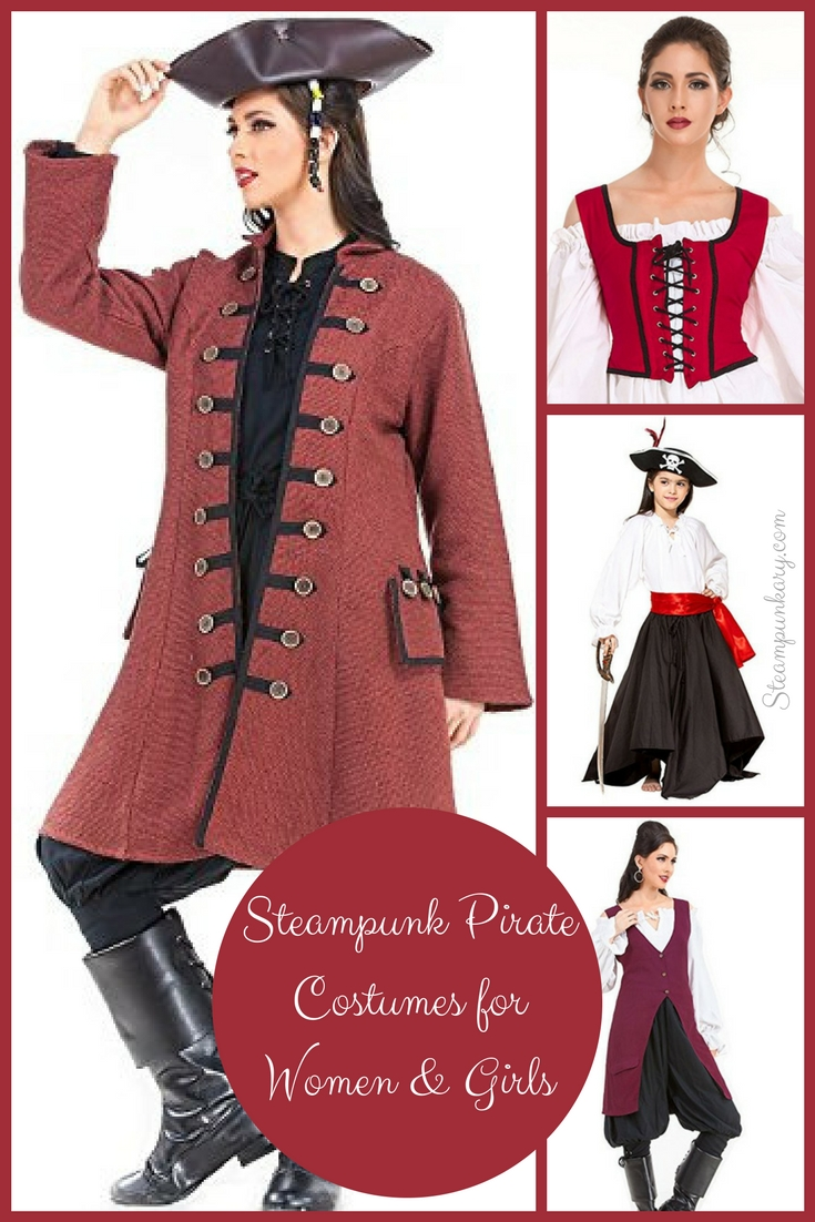 Steampunk Pirate Costumes for Women and Girls