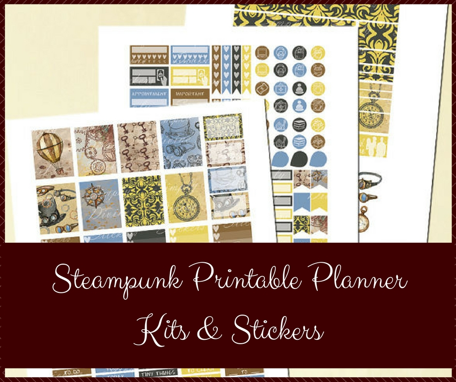 Steampunk Printable Planner Kits & Stickers