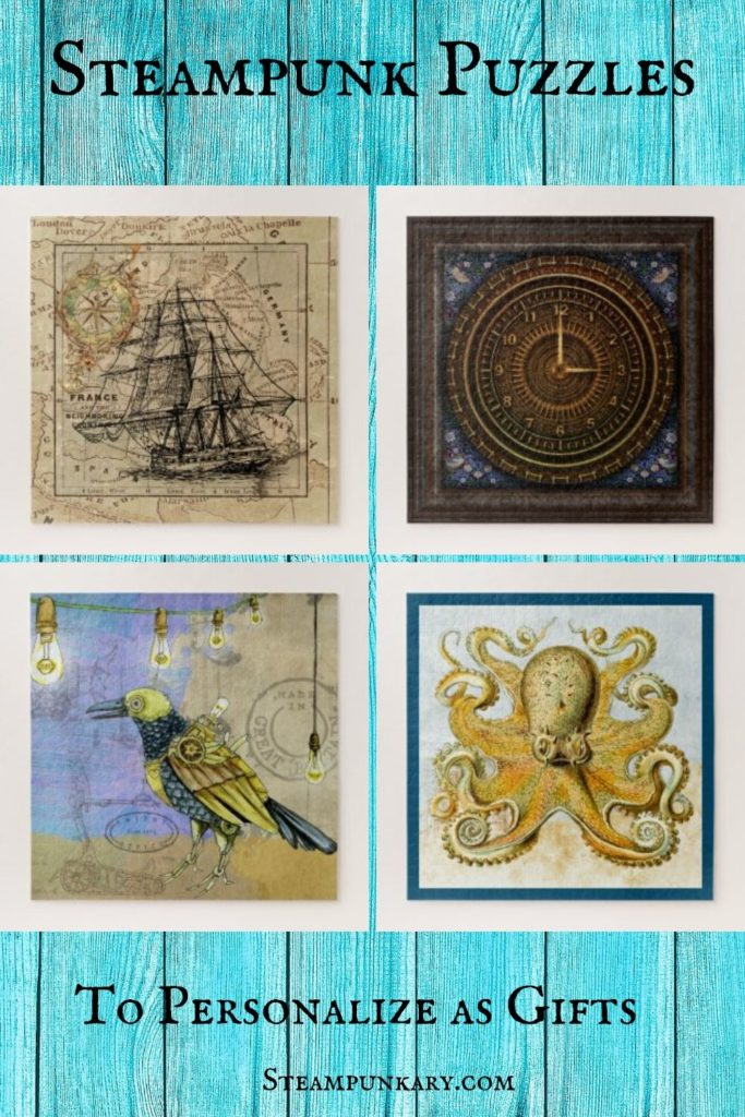 Steampunk Puzzles to Personalize as Gifts