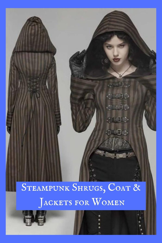 Steampunk Shrugs, Coats & Jackets for Women