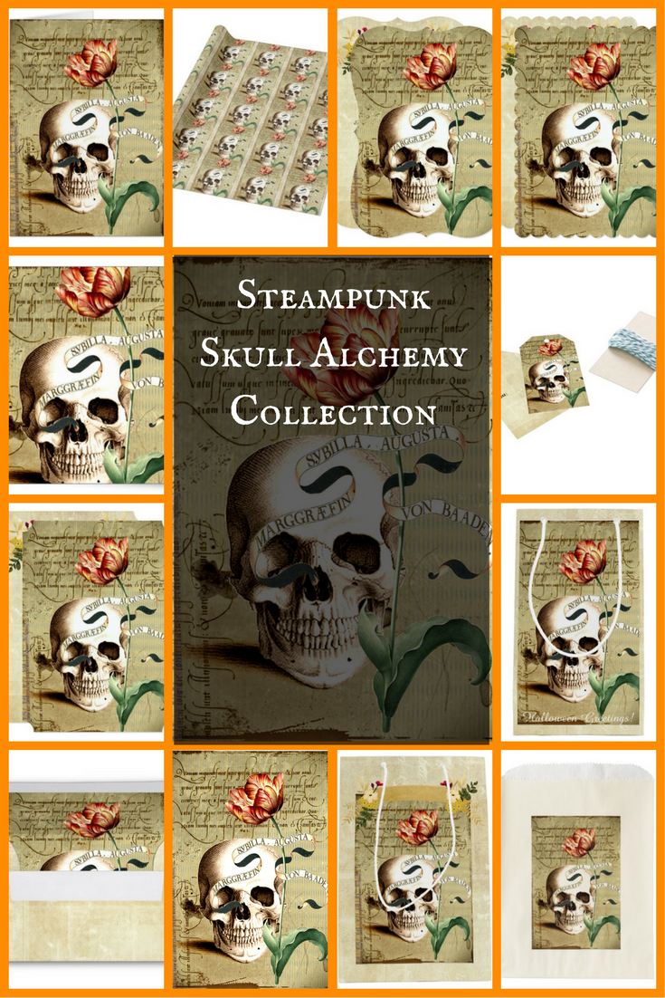 Steampunk Skull Alchemy Collection