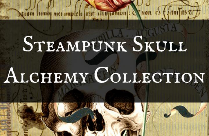 Steampunk Skull Alchemy Halloween Invitations, Gift Wrap & Party Supplies