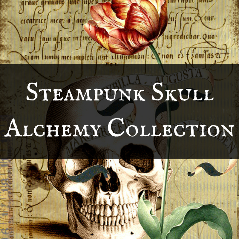 Steampunk Skull Alchemy Halloween Invitations, Gift Wrap & Party Supplies