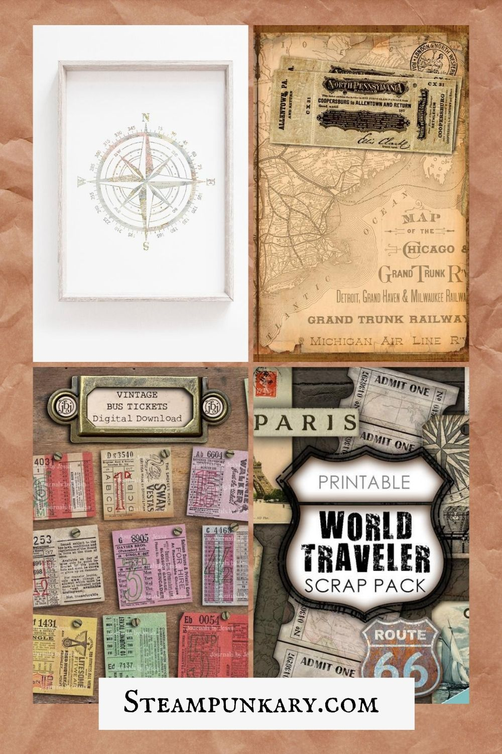 Steampunk Travel Printables