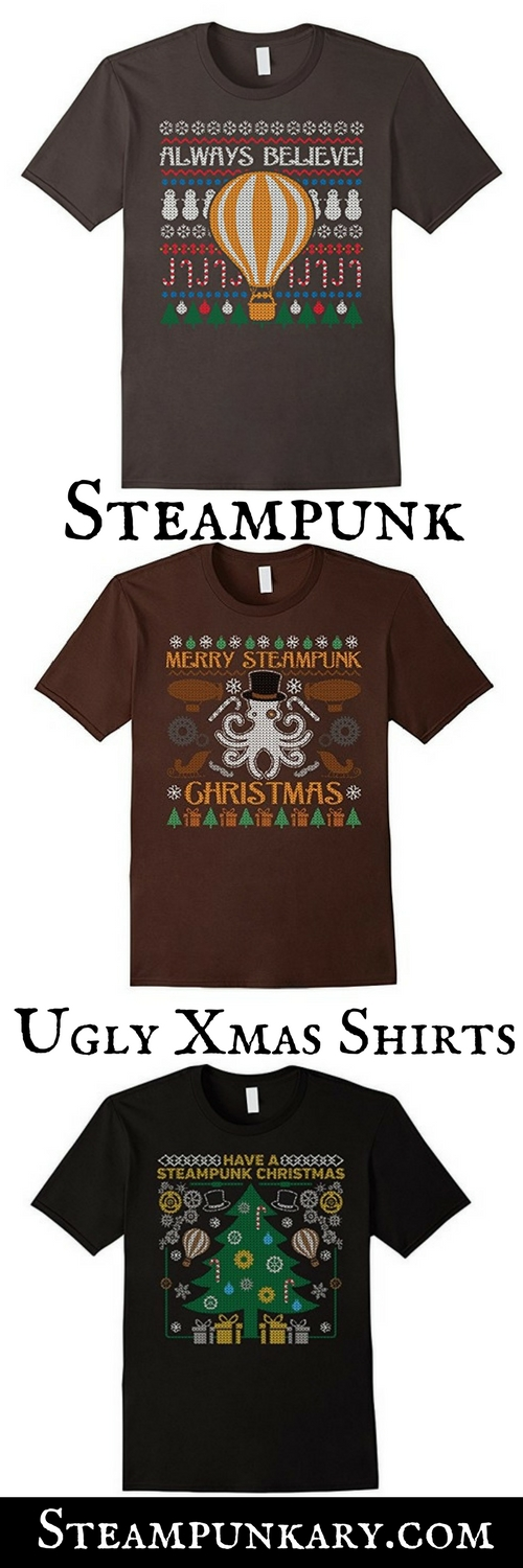 Steampunk Ugly Christmas T-Shirts and Sweaters
