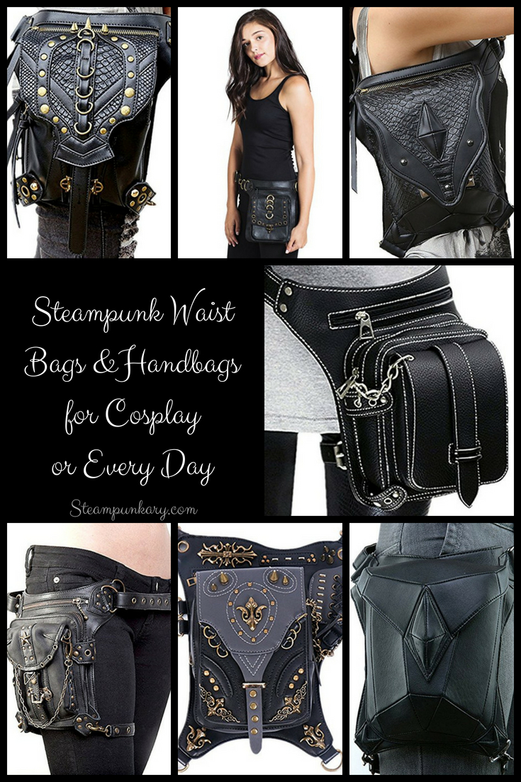 Steampunk Waist Bags and Handbags for Cosplay or Every Day