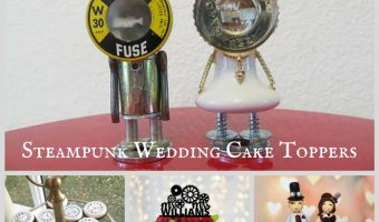 Steampunk Wedding Cake Toppers