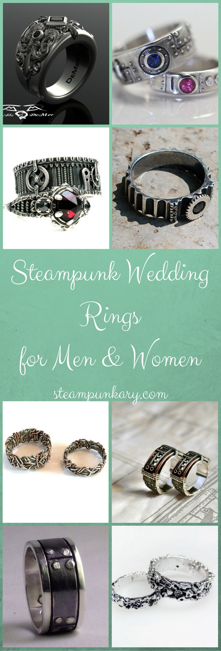 steampunk wedding rings for men and women - Steampunk Wedding Rings