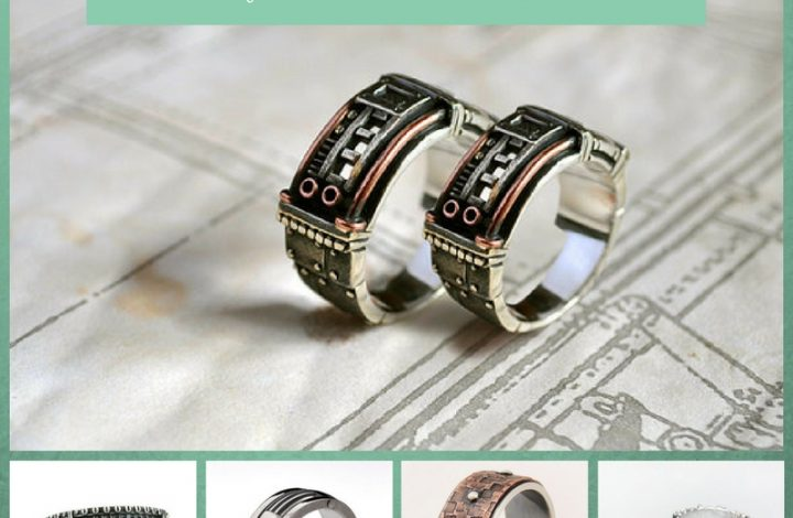 Steampunk Wedding Rings for Men and Women
