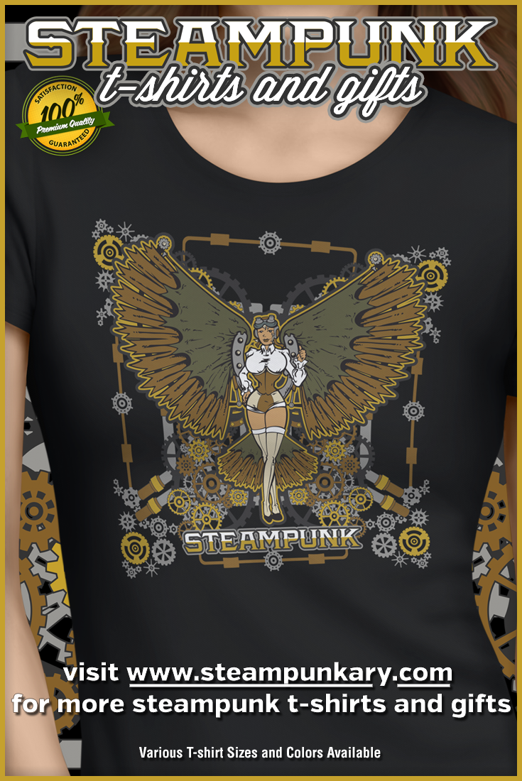 Unique Steampunk T-Shirts for Men, Women & Youth