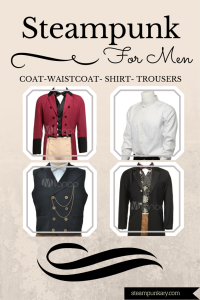 Steampunk Coat, Waistcoat, Shirt and Trousers for Men