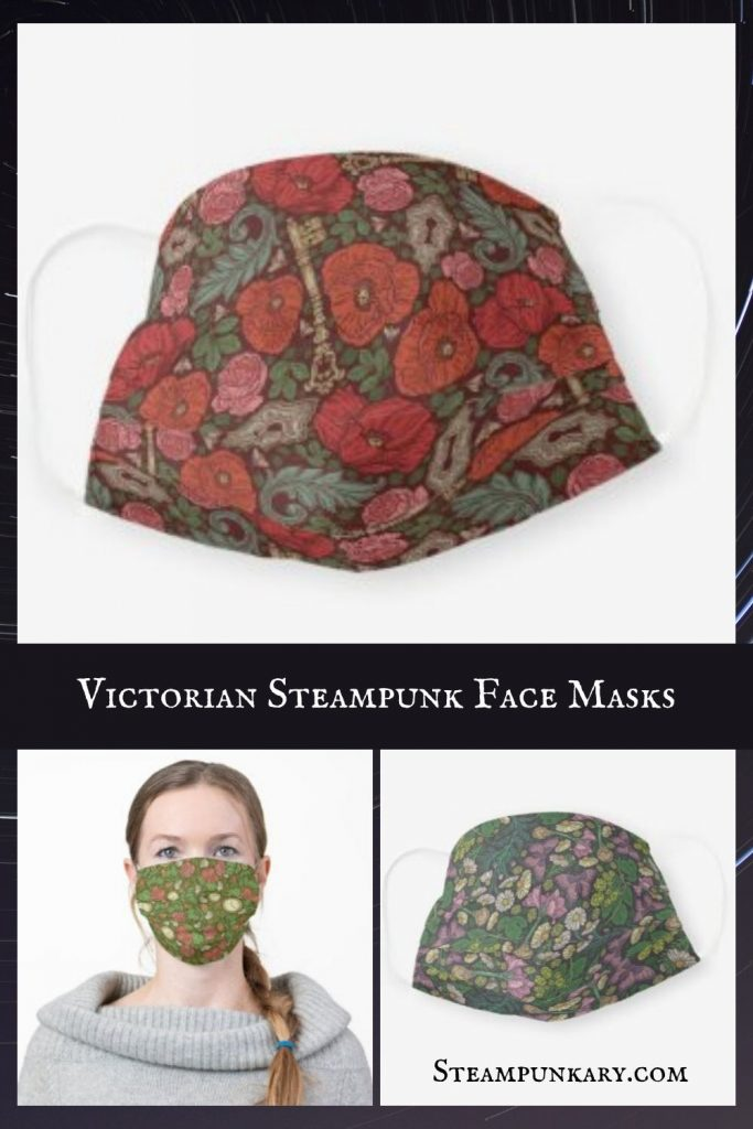 Victorian Steampunk Face Masks for COVID-19