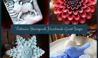 Victorian Steampunk Handmade Guest Soaps