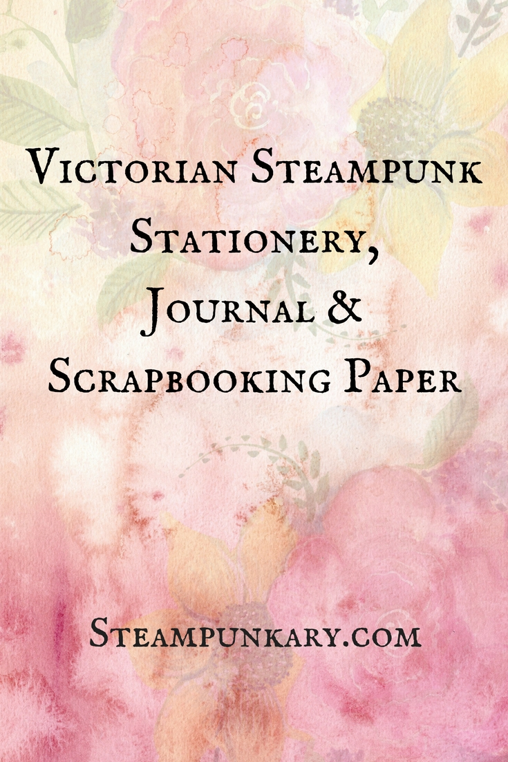 Victorian Steampunk Stationery Journal and Scrapbooking Paper