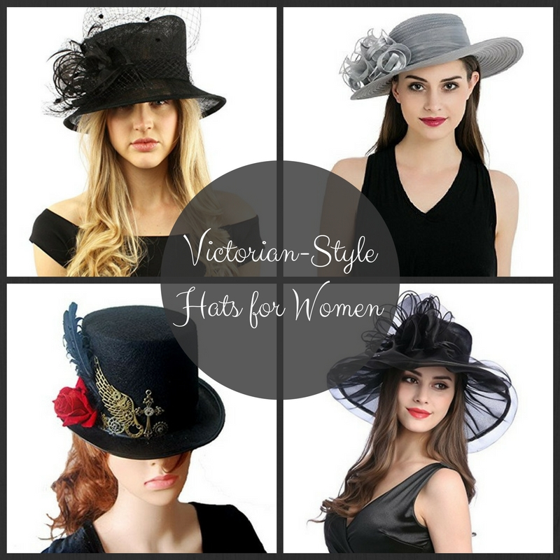Victorian-Style Hats for Women for Costumes or Regular Wear
