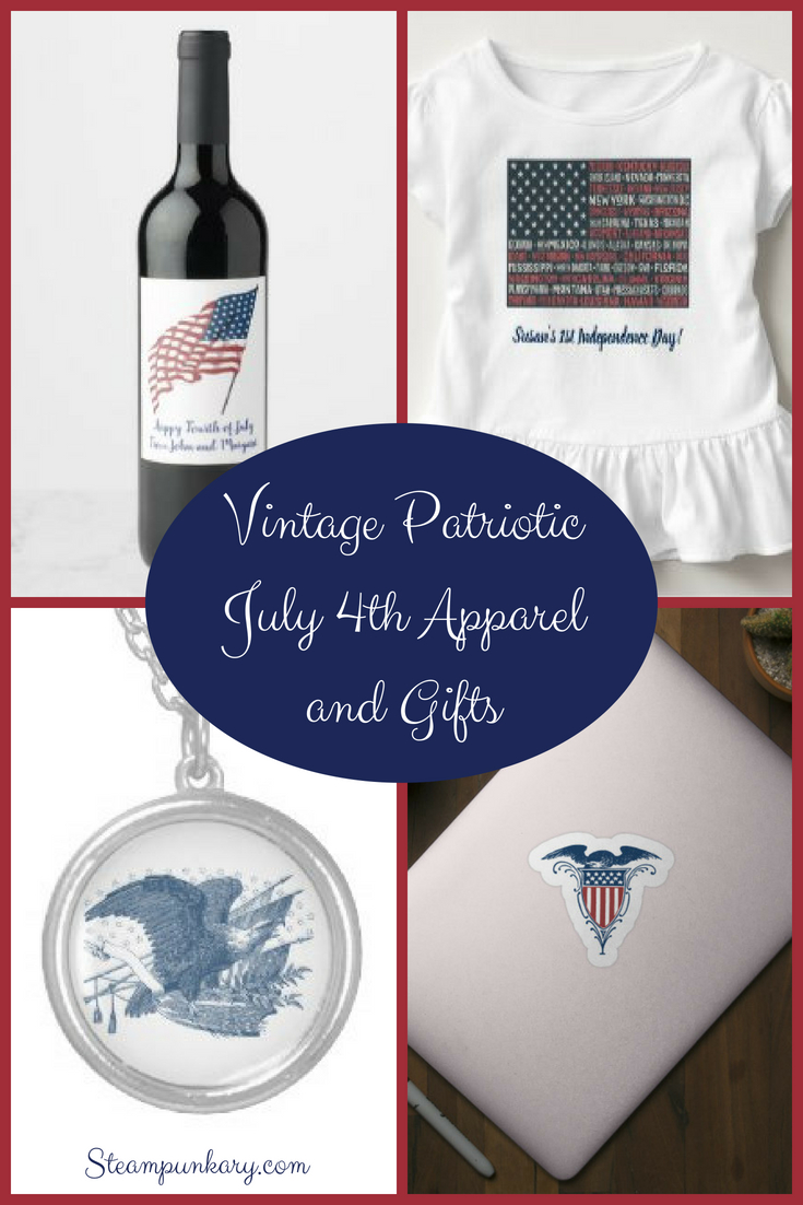 Vintage Patriotic July 4th Apparel and Gifts