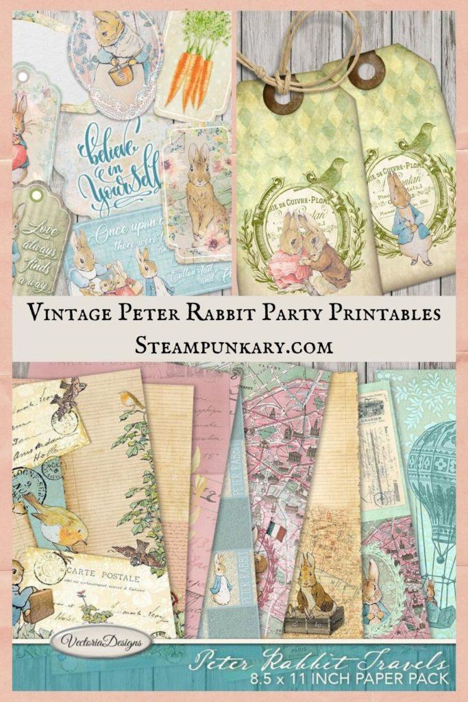 Vintage Peter Rabbit Party Printables