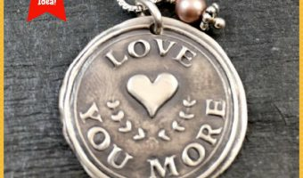 Vintage-Style Wax Seal Necklaces are Ideal Gifts for Mother's Day