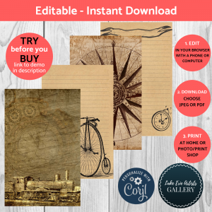 Printable Journal Kits and Papers from Coffee and Teas