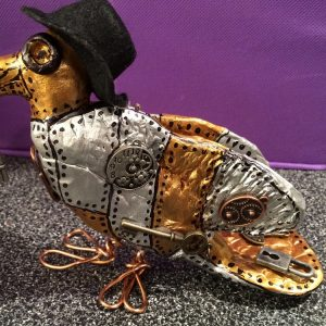 DIY Steampunk Bird Sculpture Craft