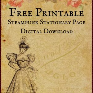 Free Printable Digital Download Stationary Page