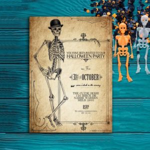 Printable Vintage Halloween Invitations