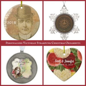 Personalized Victorian Steampunk Christmas Ornaments