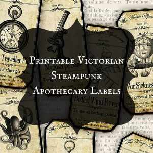 Printable Victorian Steampunk Apothecary Labels