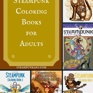 Steampunk Coloring Books for Adults