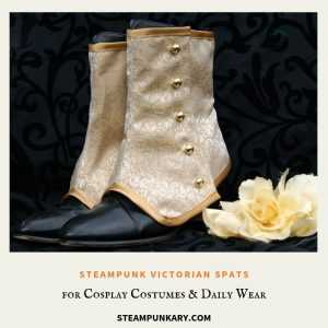 Steampunk Victorian Spats for Cosplay Costumes & Daily Wear