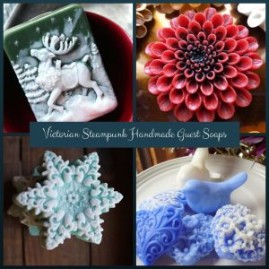 Victorian Steampunk Handmade Guest Soaps