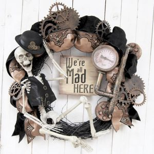 Steampunk Halloween Wreaths for Your Front Door