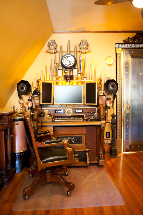 Steampunk office decor Gaming Office Great Steampunk Office Ideas From Houzz Steampunkary Great Steampunk Office Ideas From Houzz Steampunkary