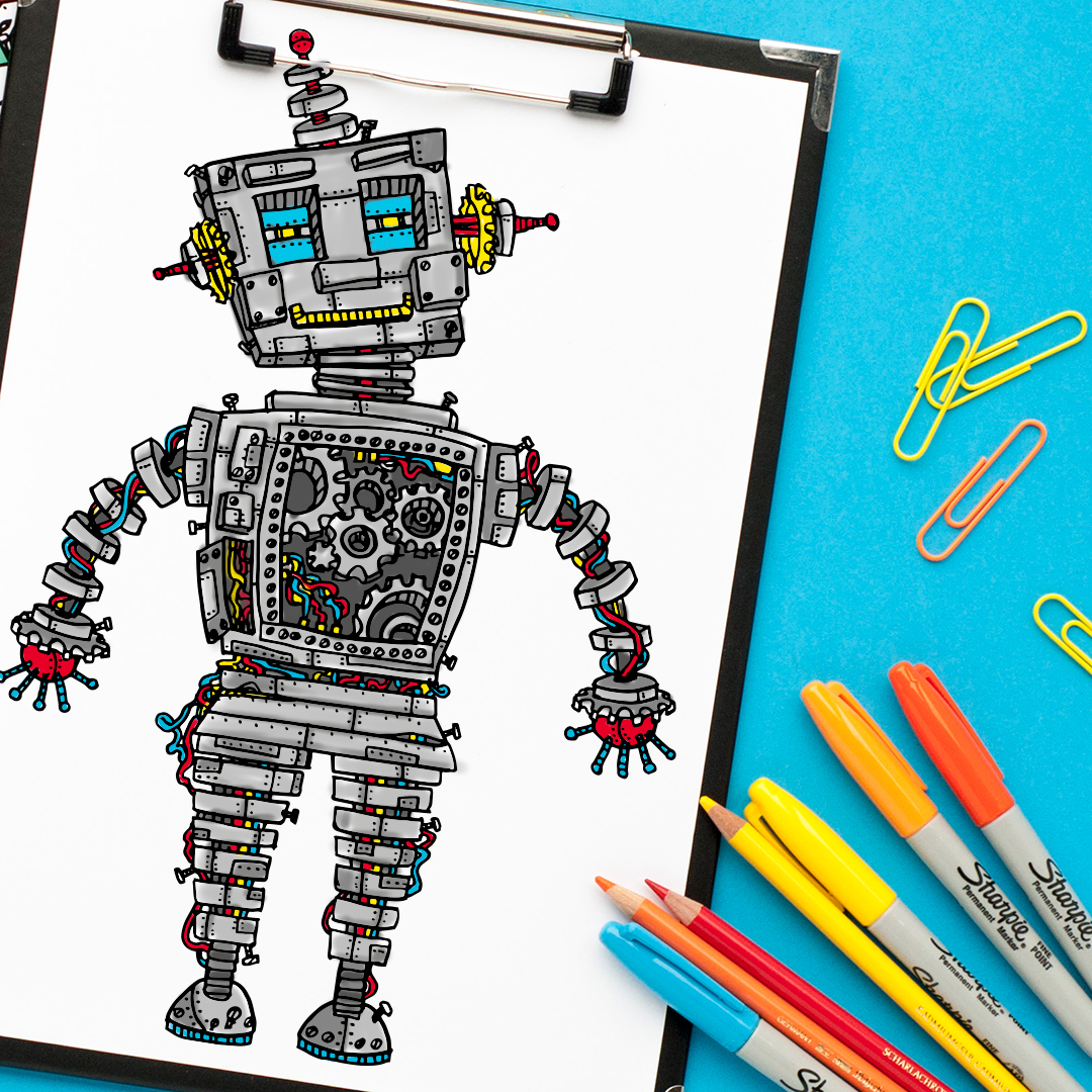Steampunk Robot Printable