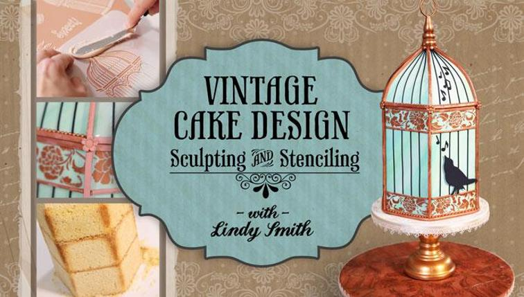 Vintage cake design sculpting and stenciling