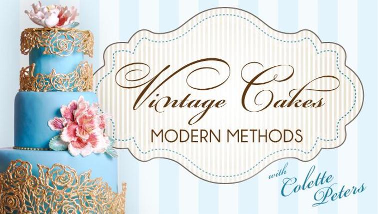 Vintage cakes modern methods